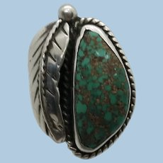 VINTAGE Turquoise Sterling  Ring Tight 5