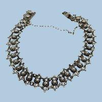 VINTAGE 900 Silver Older Bracelet 7 Inch  Insert bracelet