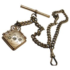 VINTAGE Stil  Gold Filled 13 inch Watch Chain with Petty Fob