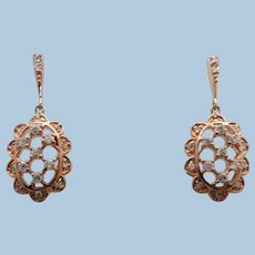 VINTAGE Old but Never Worn Rose Gold Vermeil Earrings   Classic