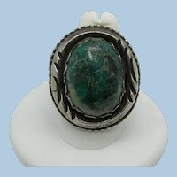 VINTAGE Old Pawn Turquoise Ring  Size 9