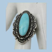 Carolyn Pollack Relios Sterling Indian Style Ring  Size 8