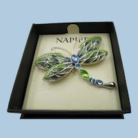 VINTAGE  Napier Colorful Dragonfly  Pretty