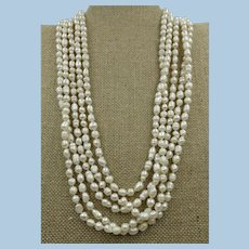 VINTAGE Small Fresh Water Pearls  5 mm Endless String 98 Inches