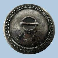 VINTAGE 800 Silver  Handmade Danish Brooch 2 Inch Old