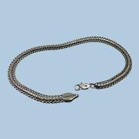 VINTAGE  Fancy Heavy 10 Inch  Unisex Bracelet  Sterling