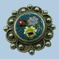 VINTAGE Small Mosaic  Made in Italy   Cute Flowers