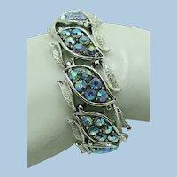 VINTAGE  50'S Coro's Rhinestone Bracelet 7 Inch Length
