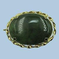 VINTAGE  Irish Connemara Marble Brooch /Pendant