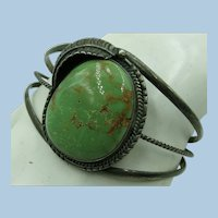 VINTAGE Old Pawn Green Turquoise Bracelet