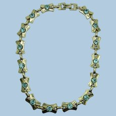 VINTAGE Barclay  50's Choker Necklace  15 1/2 Inches