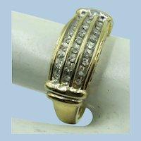 VINTAGE 10k Yellow Gold Diamond Ring  Size 7