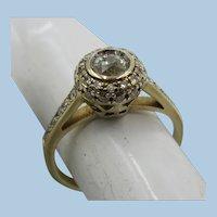 VINTAGE European Made 585 (14k) Engagement Ring Size 4 3/4