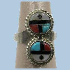 VINTAGE Zuni Sunface Ring  Size 4 1/2
