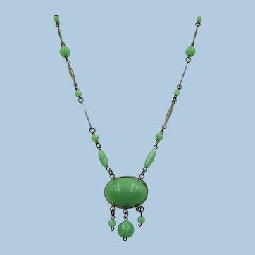 VINTAGE  Czechoslovakian Marked Necklace