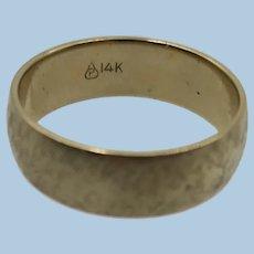 VINTAGE  14k Brushed Yellow Gold  Wedding Band  Size 9 3/4