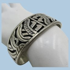 VINTAGE Heavy Mexican Cuff Bracelet   Weighs 41.8g