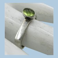 VINTAGE 925  Sterling Peridot Different Ring   Size 6 1/2
