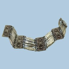VINTAGE 925 Sterling Mexican Made Pretty Bracelet  7 1/2 Length