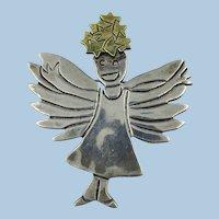 VINTAGE  My Little Angel Girl Brooch