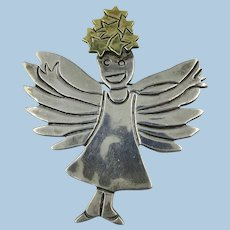 VINTAGE  My Little Angel Girl Brooch