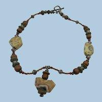 VINTAGE  Older Gem Tribal Necklace