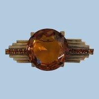VINTAGE  Art Deco  Style 40's Brooch  Amazing