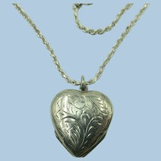 VINTAGE Large Sterling 4-Way Locket and Heavy Rope Chain