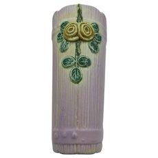 VINTAGE  Weller  Woodrose Wall Pocket 1915-1920  Lavender Tones