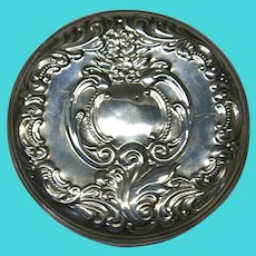 VINTAGE Wallace Sterling Round 3 Inch Mirror  60's