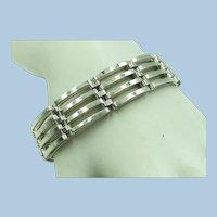 VINTAGE Sterling Heavy Wide Bracelet  Beautiful