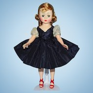 Madame Alexander Cissette Doll in 916 Navy Blue Taffeta Dress Variation 1959