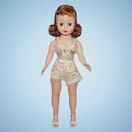 Madame Alexander Cissette Doll Red Tosca Hair 9 Inch Wearing Basic Chemise 1958