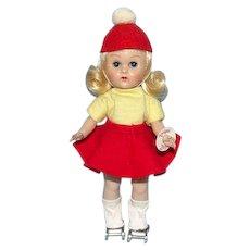 Vogue Blonde Ginny Doll Roller Skater Straight Leg Walker 8 Inch Original Box