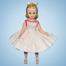 Madame Alexander 9in Cissette Doll Perfect Blonde Wig Red White Dot Dress 1958