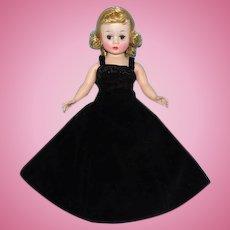 Madame Alexander Blond Cissette Doll in A-Line Black Velvet Gown 1950s
