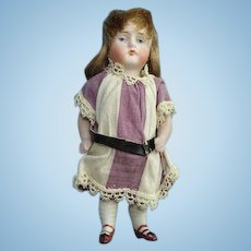 Antique All Bisque Jointed Kestner Dollhouse Doll 4.25 Inch Painted Eye