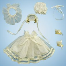 Ginny Doll Trousseau Bride Bridal Gown Outfit Only 1957 Vogue Dolls Inc for BKW