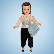 Madame Alexander Cissette Doll Brunette in 905 Black Toreador Pants 1957