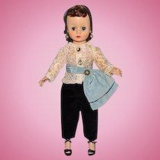 Madame Alexander Cissette Doll Brunette in 905 Black Toreador Pants 1957