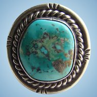 Vintage 1960s Navajo Kingman Turquoise Sterling Silver Ring Size 5.5 Native American Jewelry