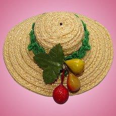 Madame Alexander Liesl Doll Straw Hat for 10in Cissette Version Sound of Music