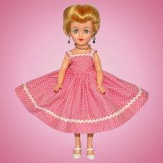 Vogue Vinyl Jan Doll Blond Angel Cut in Pink Sundress Jill Friend 1950s