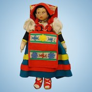Lenci Mascotte Doll Lazio Italy Felt Cloth Costume Doll Tagged 9.5 inch