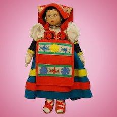 Lenci Mascotte Doll Lazio Italy Felt Cloth Costume Doll Tagged 9.5 inch