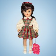 Ideal 1949 Toni Doll Black Hair Plaid Dress Original Box 14 Inch P-90