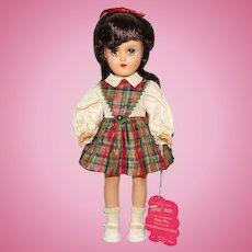 Ideal 1949 Toni Doll Black Hair Plaid Dress Original Box 14 Inch P-90