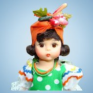 1980s Madame Alexander Brazil International Doll 8 Inch HP Straight Leg 573 Mint in Box
