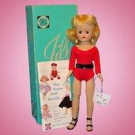 C1958 Vogue Jill Doll in Red Leotard Blond Angel Cut Original Mint Box