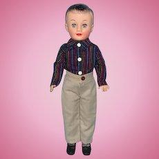 1958 Vogue Jeff Teenage Vinyl Doll in School Outfit Jan Jill Boyfriend 11 Inch